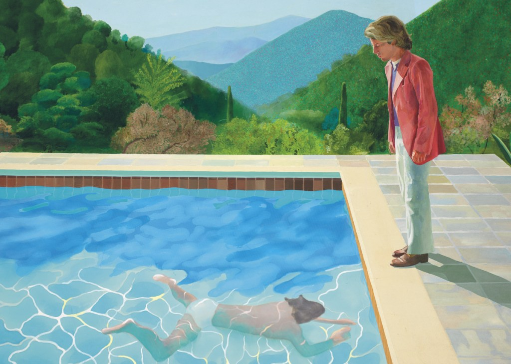 """Portrait of an Artist (Pool with Two Figures)"" sold for $90.3 million on Thursday night."