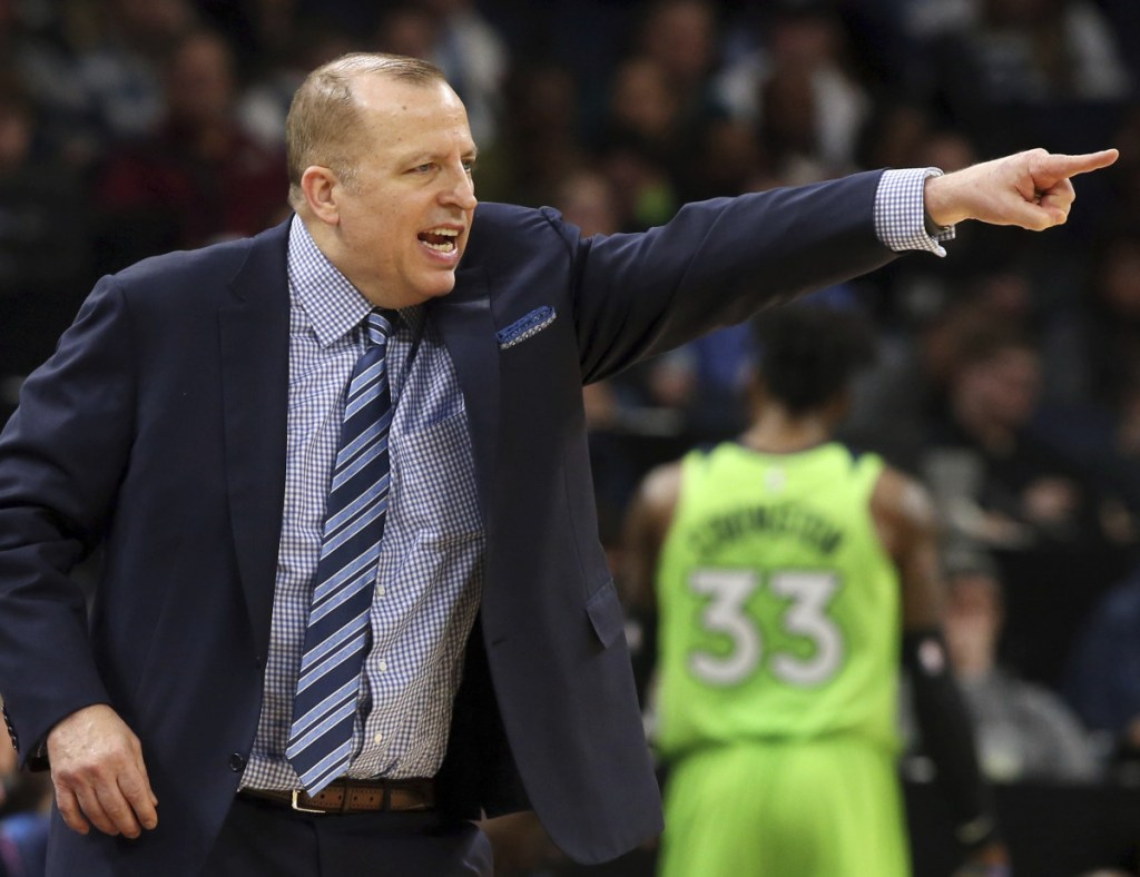 Minnesota Coach Tom Thibodeau has his players playing tough on defense, and watching the wins begin to pile up.