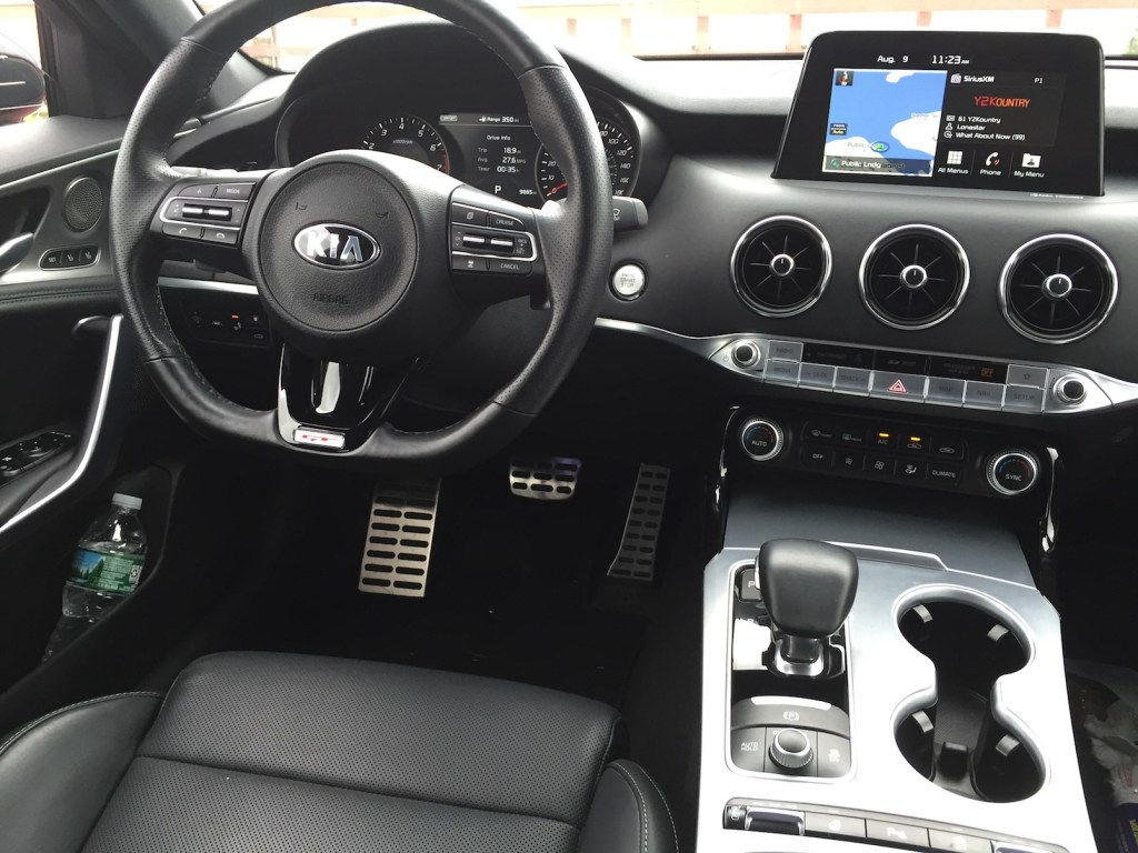 The Stinger's interior features clean controls, simple displays and solid ergonomics. (Photo by Tim Plouff)