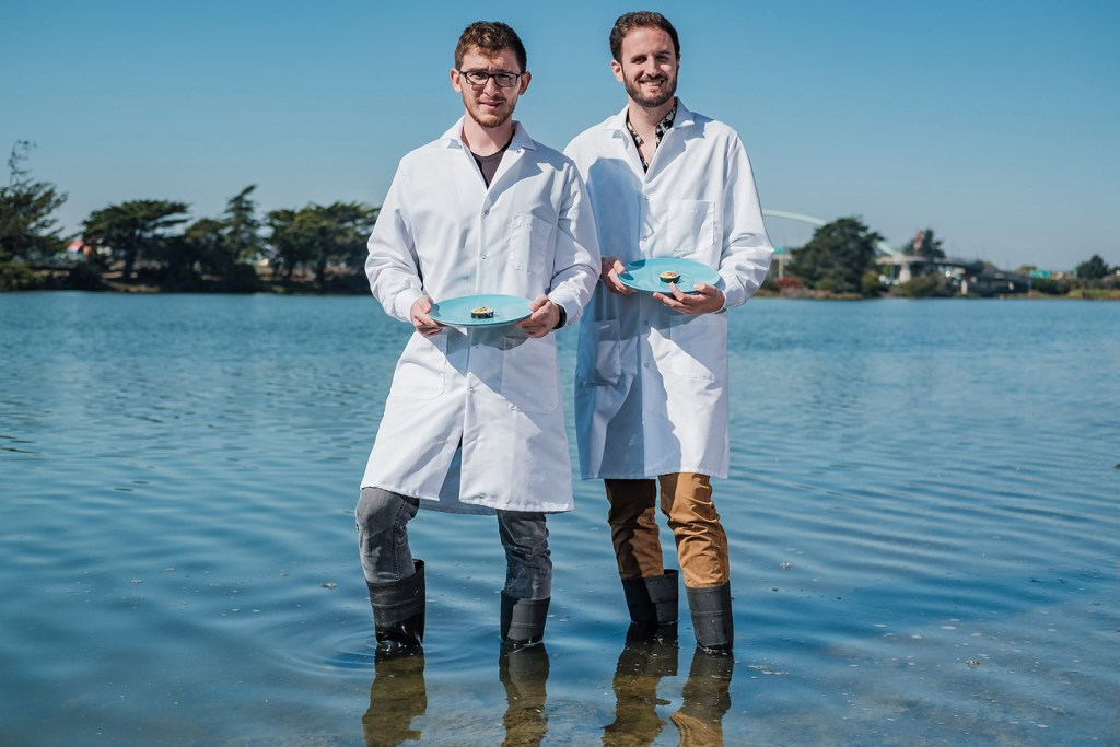Brian Wyrwas, left, and Mike Selden, founders of Finless Foods.