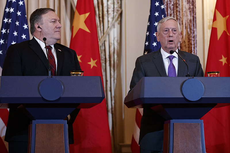 Secretary of State Mike Pompeo and Secretary of Defense Jim Mattis at the State Department on  Nov. 9.