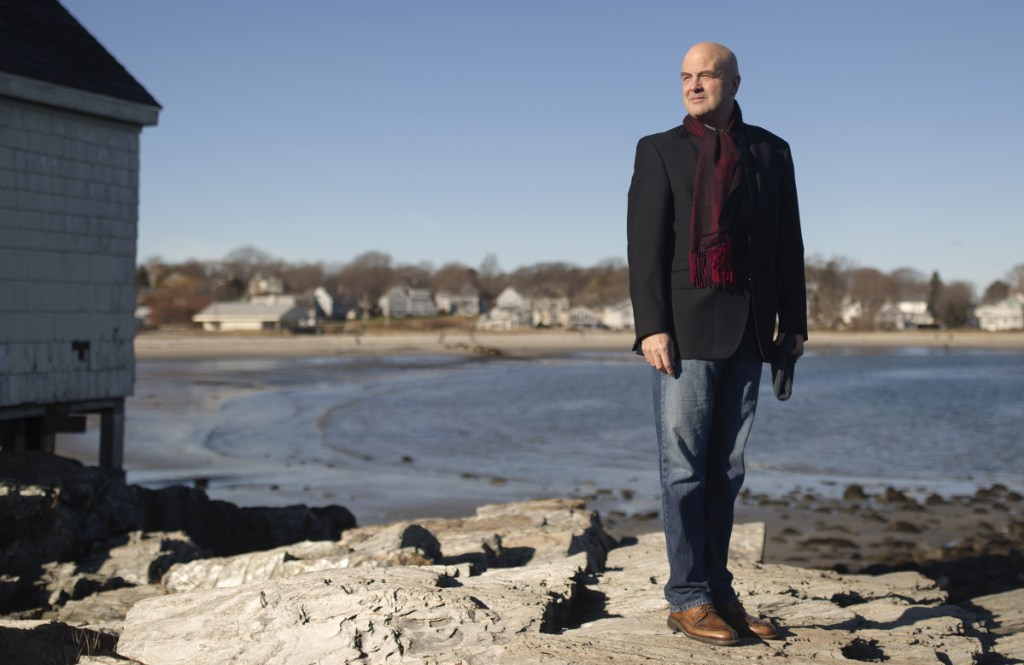 "Claude Morgan, incoming South Portland mayor, stands at at Fisherman's Point near Willard Beach on Saturday. ""I actually love serving on the council. It's the closest thing to a family experience in my life,"" he says."