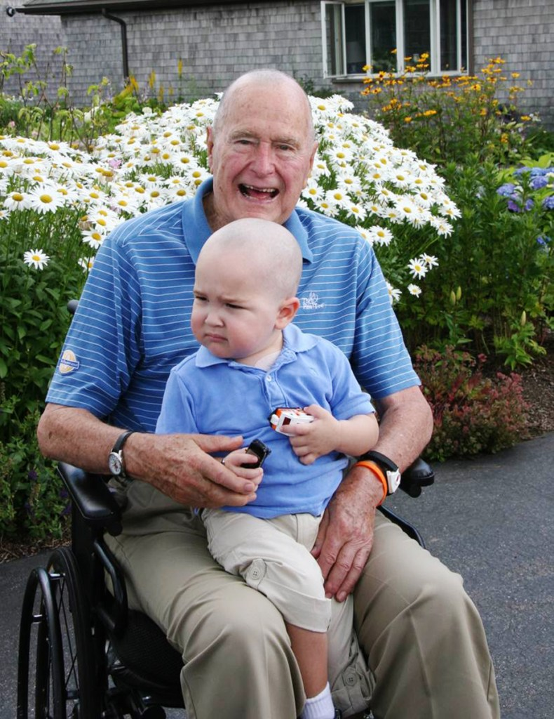 Readers recall George H.W. Bush as a warm man who was generous to children. In 2013, he shaved his head in solidarity with Patrick, son of one of Bush's Secret Service agents, who was undergoing treatment for leukemia.