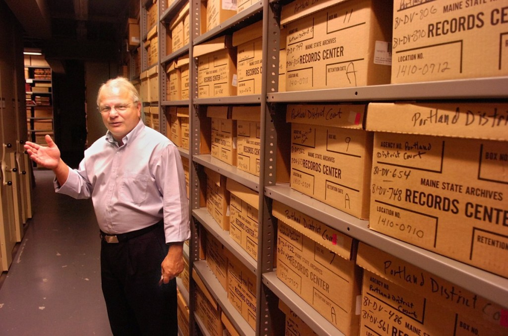 """Accessing anything that's on the backup tapes would be a fairly labyrinthine effort ... and could wind up being fruitless,"" says Maine State Archivist David Cheever. He is shown here in the archives in 2015."