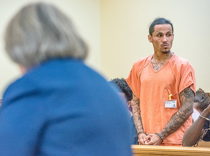 Jordan Waterman appears in 8th District Court in Lewiston in June on charges related to a shooting in downtown Lewiston.