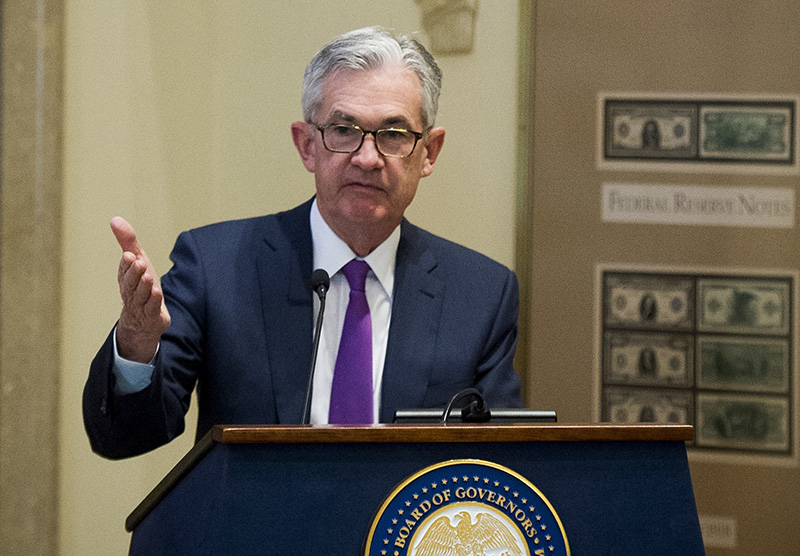 Federal Reserve Chairman Jerome Powell addresses the Federal Reserve Board last month.