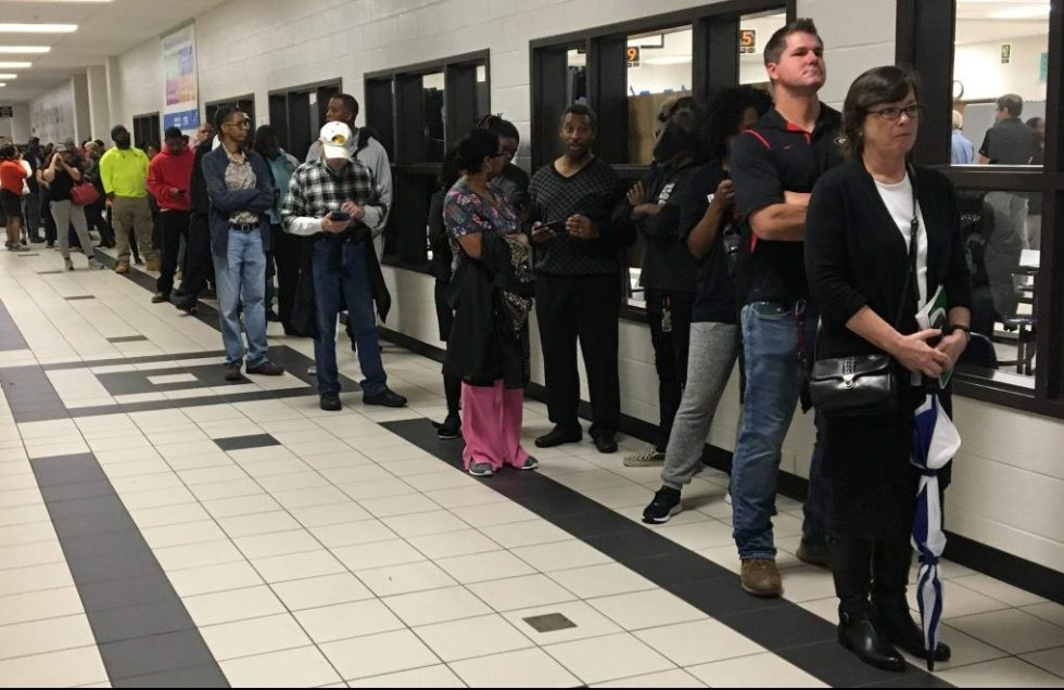 H.R. 1 would take steps to prevent technical malfunctions such as those that prompted hours-long waits on Nov. 6. for voters at Anderson-Livesy Middle School in Snellvillle, Ga.