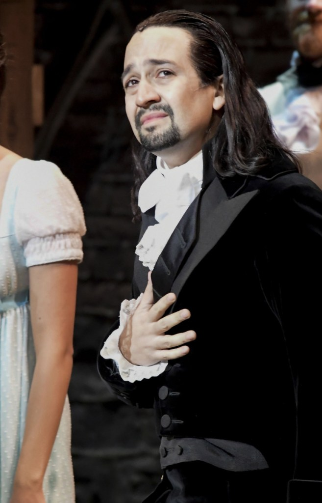 Lin-Manuel Miranda gets a standing ovation in San Juan, Puerto Rico on Friday. More than 1,000 people attended the show.