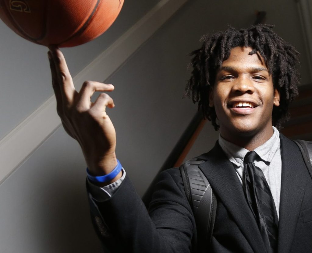Te'Andre King grew up in New York but visited Maine for three straight summers while participating in the Fresh Air Fund. His host family approached him about attending North Yarmouth Academy and it has worked out well. King averaged 23.2 points and 13.1 rebounds per game last season.