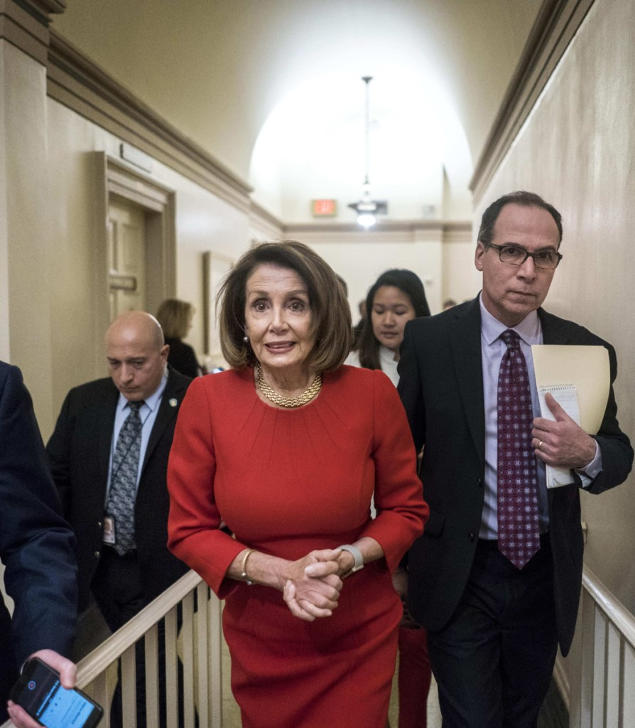 House Speaker Nancy Pelosi on Capitol Hill Wednesday, when Democrats supported increased spending on border security but not for a wall.