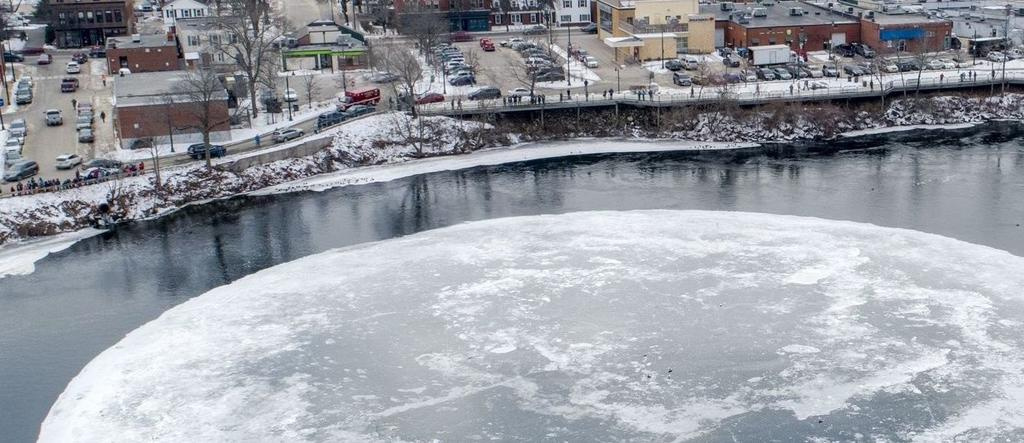 People have lined Westbrook's River Walk to see the ice disk and, downtown business owners say, that's been very good for business in what is usually a slow time of year.