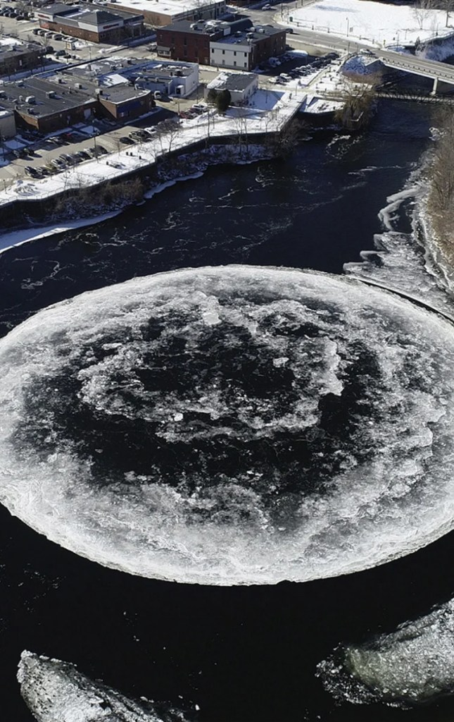 Drone footage gave the world a heart-stopping glimpse of a natural mystery in Maine.