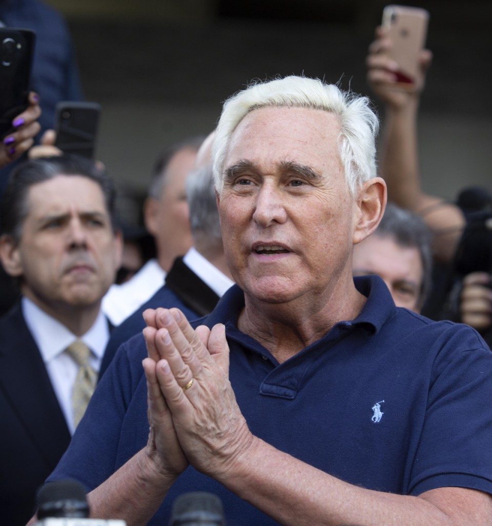 Roger Stone, a former adviser to President Trump, decried the use of force in the federal raid at his house Friday.