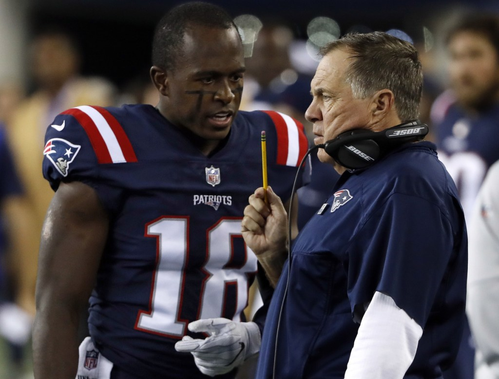 New England Patriots Coach Bill Belichick, with his special teams ace Matthew Slater, credits his years as a special teams coach with the New York Giants for shaping his overall coaching outlook.