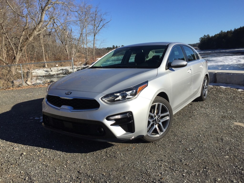 The Kia Forte sedan, photographed by Tim Plouff by the Kennebec River in Richmond.