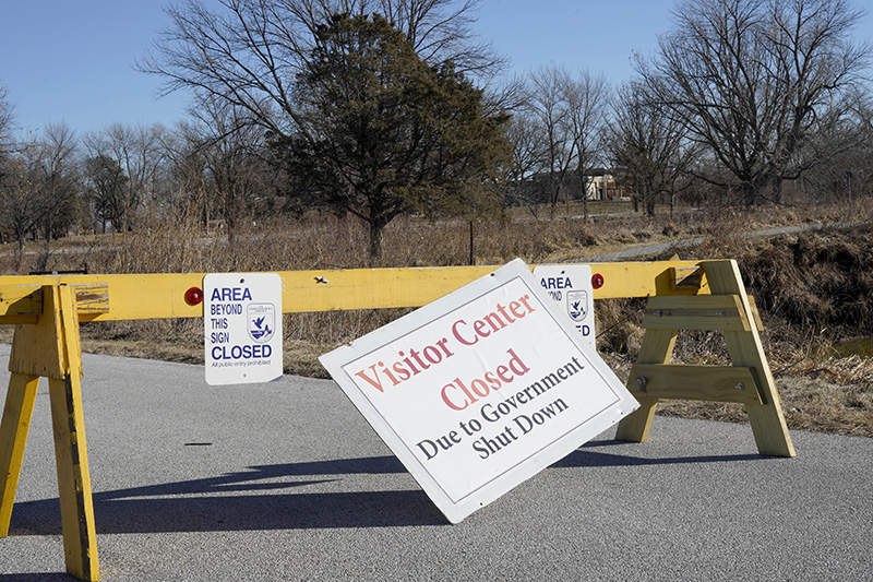 The visitor center of the DeSoto National Wildlife Refuge in Missouri Valley, Iowa has been closed because of the government shutdown. Some refuges will be staffed now to allow hunting.