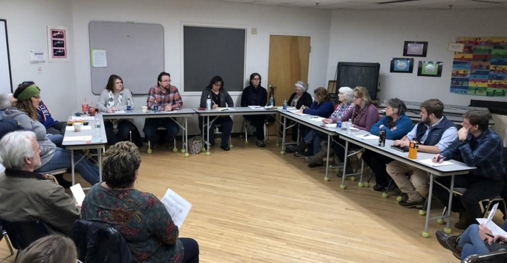 The School Administrative District 75 Board of Directors held an emergency meeting in Topsham on Wednesday to discuss leadership issues following the resignation last week of two longtime members.