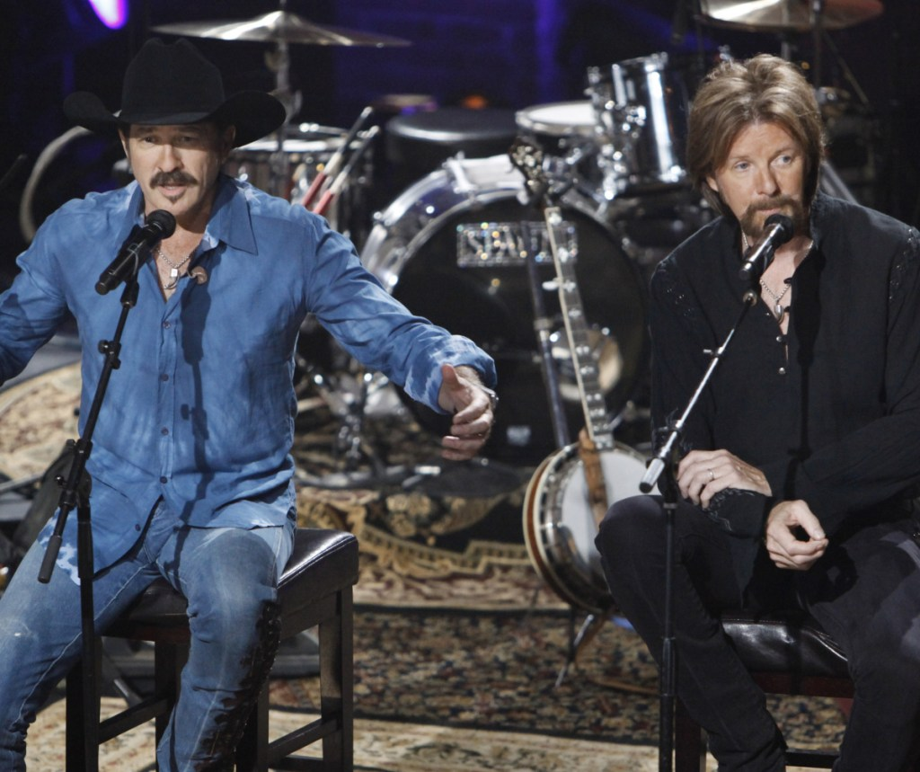 """Kix Brooks, left, and Ronnie Dunn collaborated on their new album, """"Reboot,"""" with some of country music's brightest stars, including Kacey Musgraves, Ashley McBryde and Brothers Osborne."""
