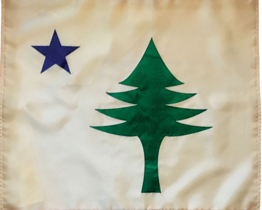 Maine's 1901 flag, as replicated by the Maine Flag Co. Rep. Janice Cooper is sponsoring a bill to reinstate the 1901 design as the official state flag.