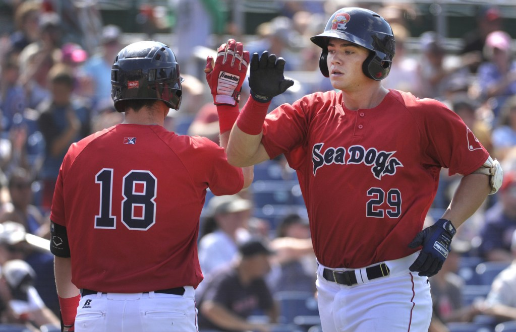 Bobby Dalbec finished last season with the Portland Sea Dogs, hitting six homers in 29 games. He's added seven pounds during the offseason and is just 'trying to get better' every day.