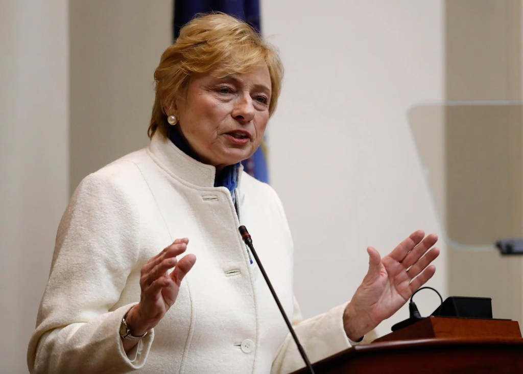 Gov. Janet Mills has emerged as a pivotal figure in the debate over CMP's proposed transmission line from Canada, even without the authority to issue a permit. Her stamp of approval will boost backers of the project.