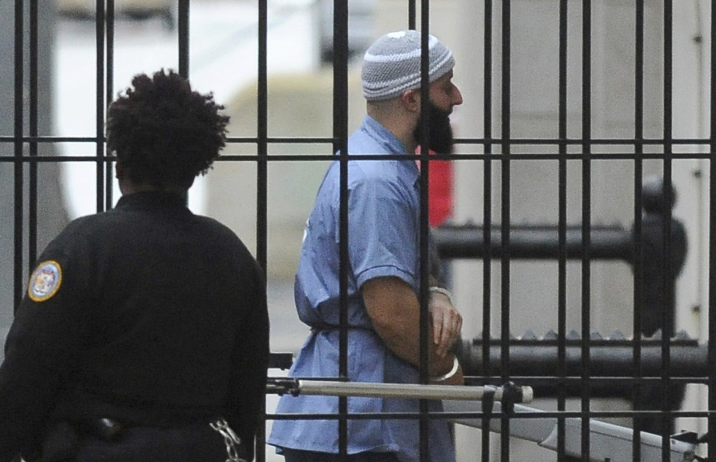 """Adnan Syed enters Courthouse East in Baltimore before a hearing in 2016. Maryland's highest court has denied a new trial for Syed, whose murder conviction was chronicled in the hit podcast """"Serial."""" An HBO documentary premiering Sunday will further explore the case."""