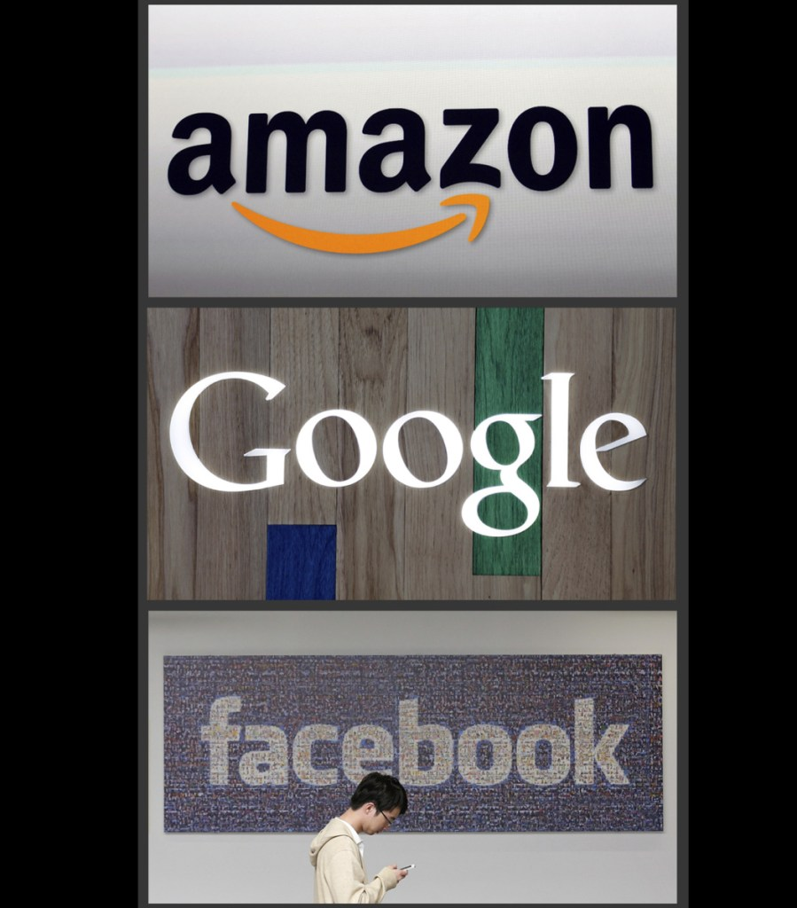 A review published Wednesday says global tech giants like Google, Amazon and Facebook don't face enough competition and rules need beefing up.