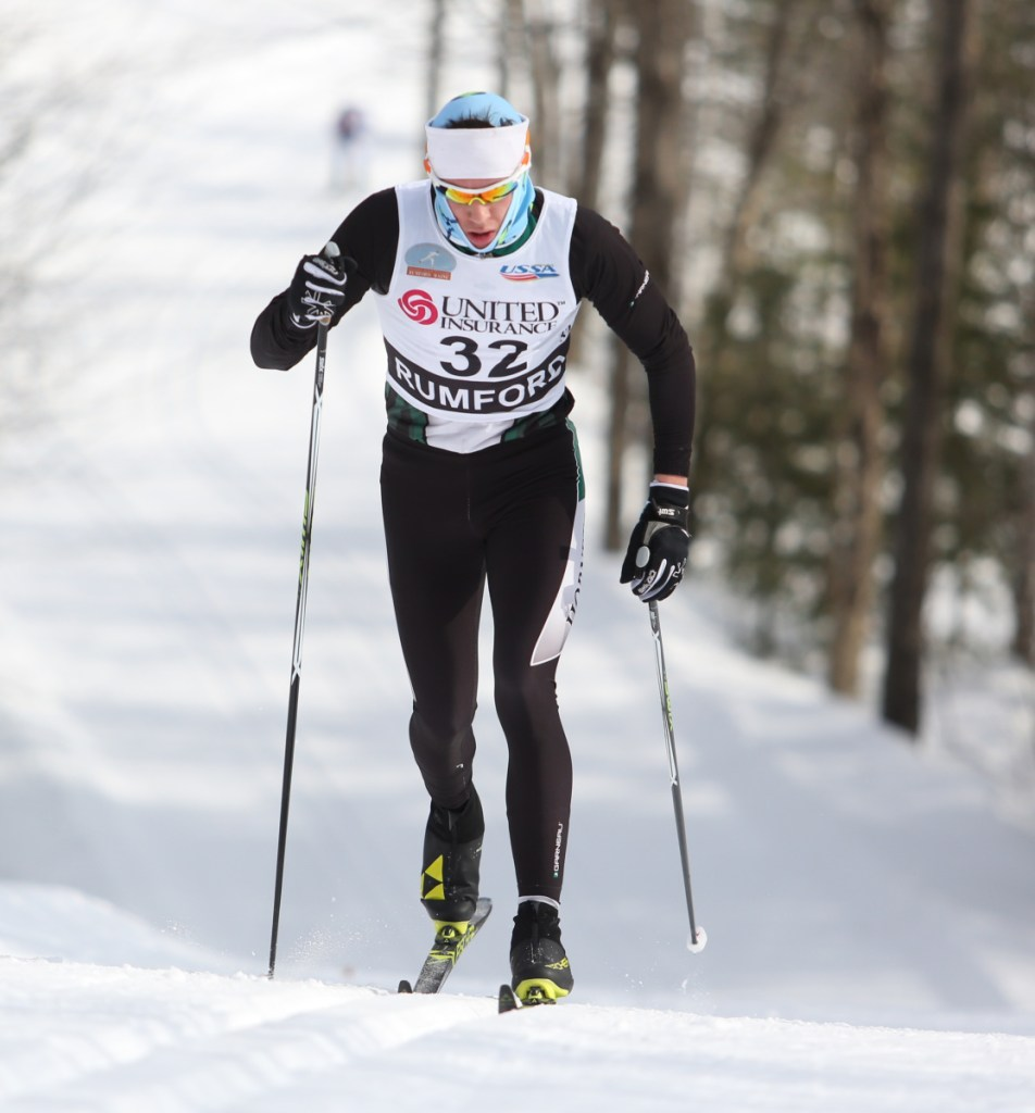 Roy Varney, who has been accepted at UM-Presque Isle and New Hampshire, dominated in Maine high school skiing for Leavitt, and now is starting biathlon.