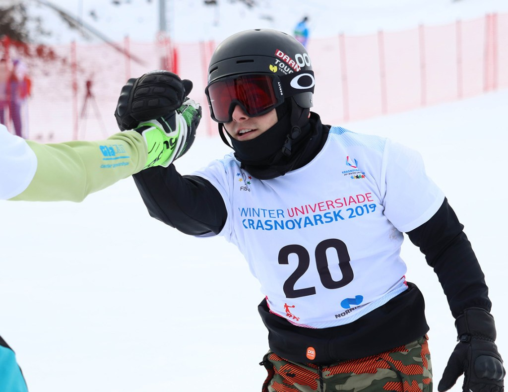 Myles Silverman competes at the World University Games in March, where he had 11th and 14th-place finishes.