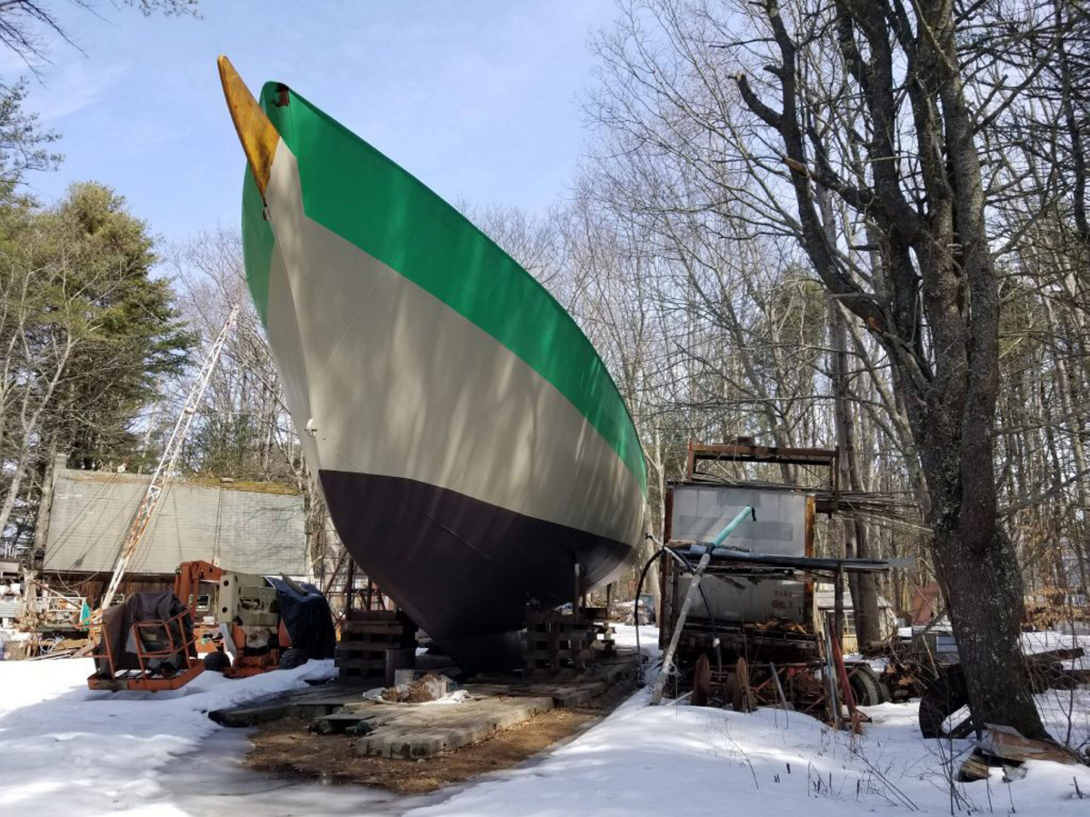 After decades of work, the sailing ship Island Rover is built, but
