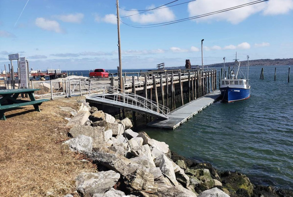 Rockland's middle pier will be one of 10 sites around Penobscot Bay studied for future impacts from sea level rise.