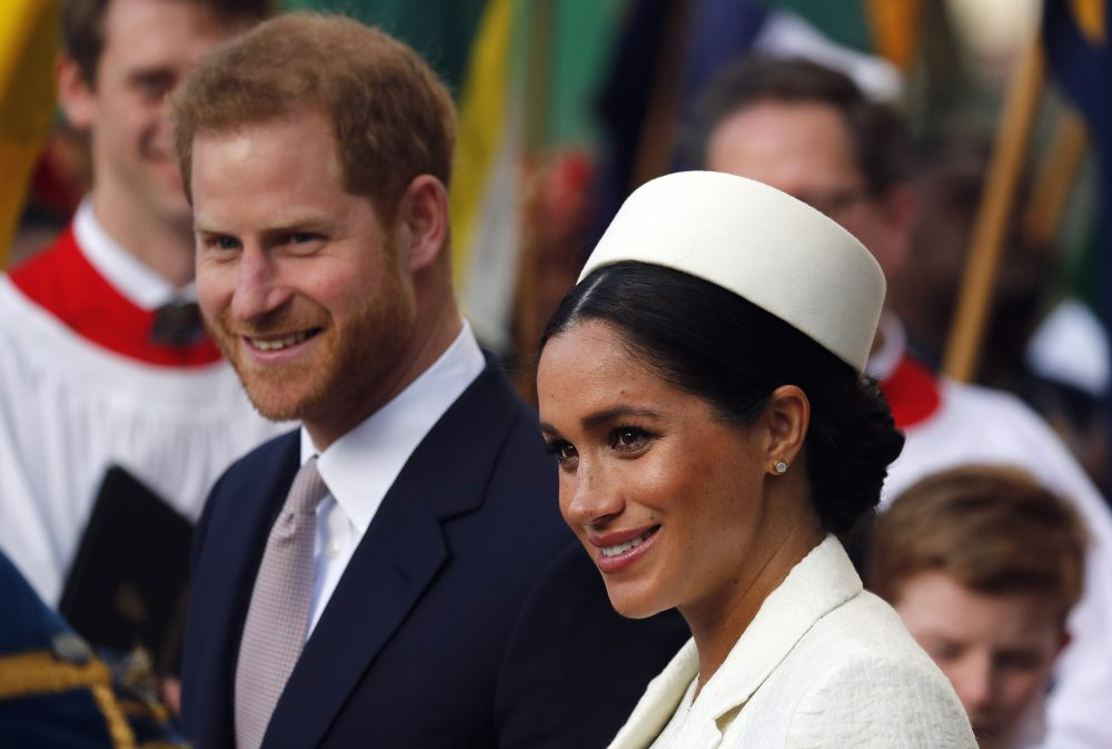 In this Monday, March 11, 2019 file photo, Britain's Prince Harry and Meghan, the Duchess of Sussex leave after the Commonwealth Service at Westminster Abbey in London. Guinness World Records said Wednesday, April 3 that a new Instagram account opened by Prince Harry and his wife Meghan is the fastest-ever to gain 1 million followers.  The account, which was opened Tuesday, reached the 1 million mark in under six hours.