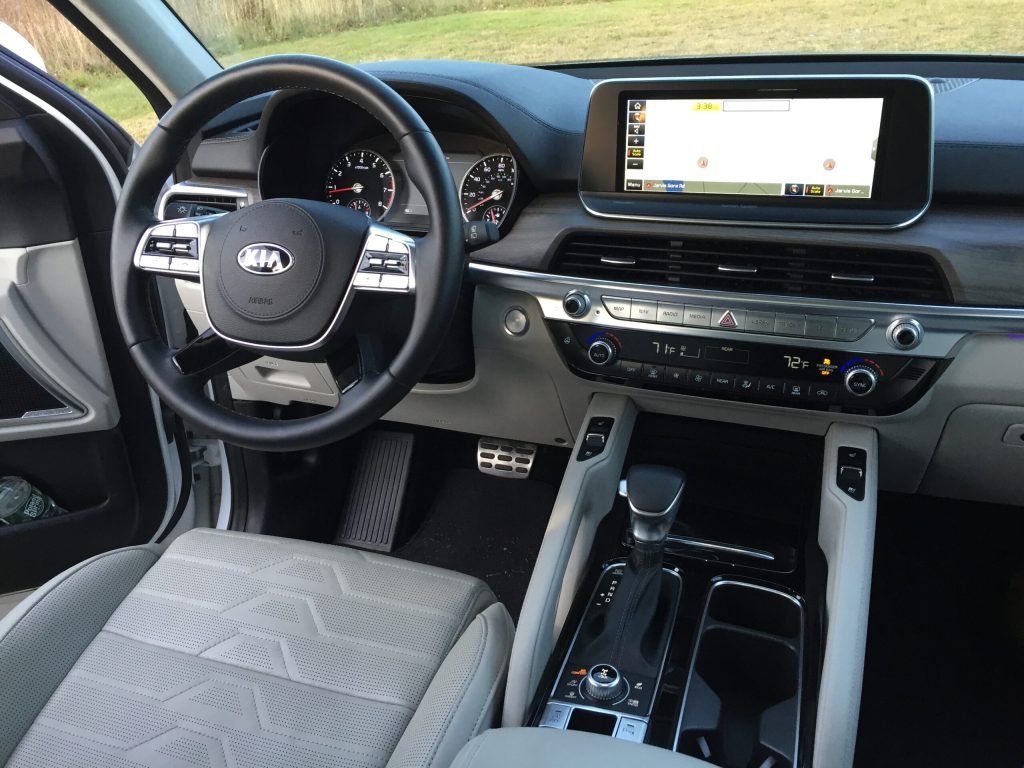 The Telluride is also packed with the latest electronic driving aids, including highway driving assist, which will allow you to operate hands-free at highway speeds.