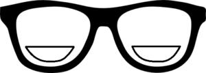 משקפי ביפוקל bifocal. חלון קטן בתחתית עבור קריאה.