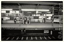 Urban railway station.
