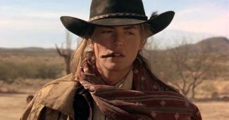 """Avenging gunslinger: Sharon Stone as """"Ellen"""" aka """"The Lady"""" in The Quick and the Dead (1995)"""
