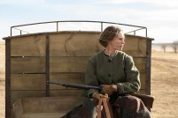"""Hilary Swank as """"Mary Bee Cuddy"""" in The Homesman (2014)"""