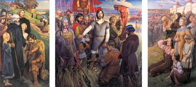 Ю. М. Ракша. «Куликово поле». Триптих. 1980