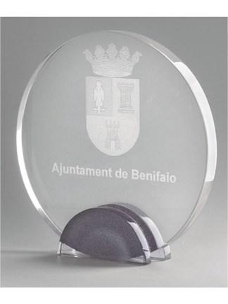 1301-Plata-Cristal-Economico-Trofeo-Placa-Reconocimiento-Homenaje
