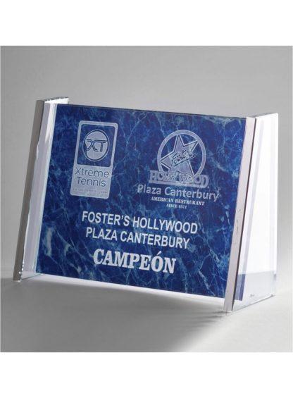 1304-Cristal-Economico-Trofeo-Placa-Reconocimiento-Homenaje