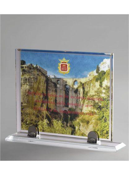 1307-Cristal-Economico-Trofeo-Placa-Reconocimiento-Homenaje