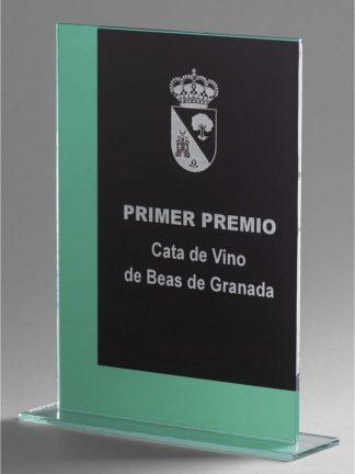 1357-Cristal-Economico-Trofeo-Placa-Reconocimiento-Homenaje