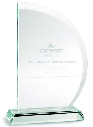 2322-Cristal-Economico-Trofeo-Placa-Reconocimiento-Homenaje