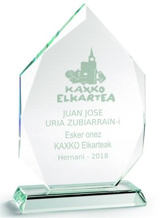 2323-Cristal-Economico-Trofeo-Placa-Reconocimiento-Homenaje