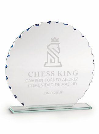 2377-Cristal-Economico-Trofeo-Placa-Reconocimiento-Homenaje