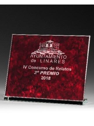 9320-Cristal-Economico-Trofeo-Placa-Reconocimiento-Homenaje