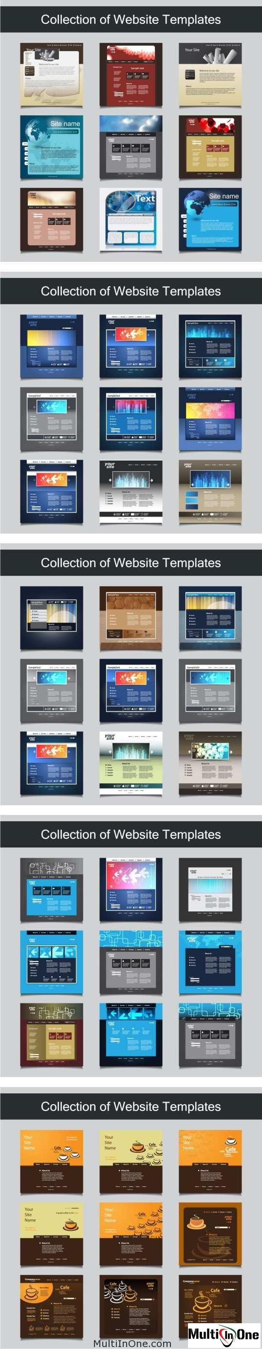 Big Set Of Websites Templates 5