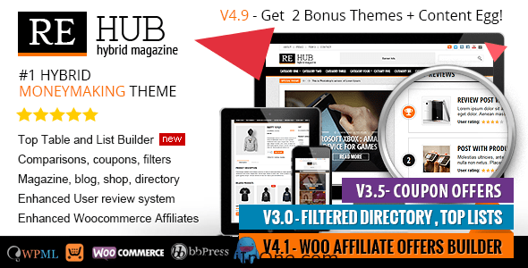 REHub WordPress Theme - Directory, Shop, Coupon, Affiliate Theme(Latest)(Free Download)(MultiInOne.com)