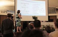 Rita Rosenback presenting her book