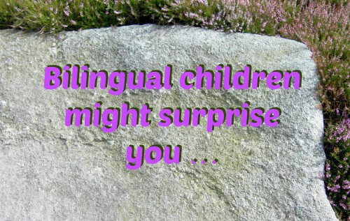 Bilingual children might surprise you …